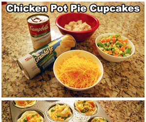 baking, cooking, and chicken pot pie image