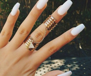 dope, nail porn, and white nails image