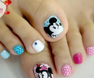 mickey, minnie, and nails image
