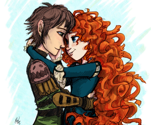 love, merida, and hiccup image