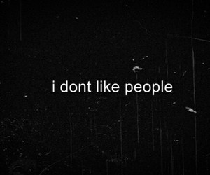 people, hate, and alone image