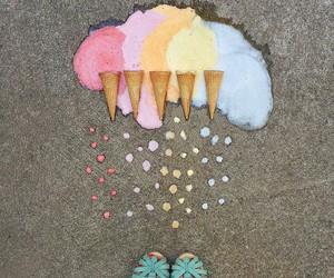 ice cream, summer, and blue image