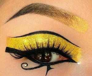 eyes, makeup, and egyptian image