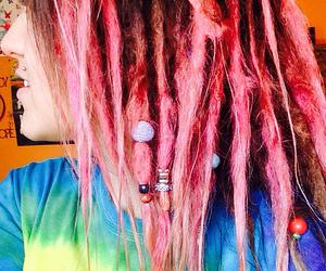 dreadlocks, tie dye, and beads image