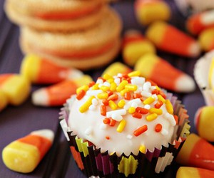 Halloween, candy, and cupcake image
