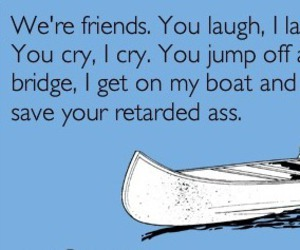 friends, funny, and friendship image