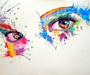 eyes, colors, and art image
