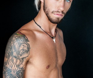 handsome, tattos, and perfect image