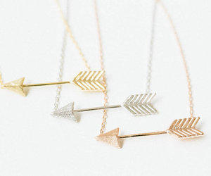 arrow, necklace, and gold image