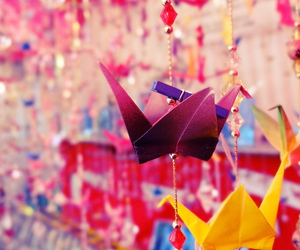 colorful, origami, and cute image