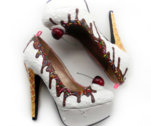 shoe bakery and vanilla ice cream heels image