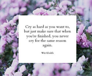 quote, cry, and flowers image