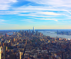 city, empire state, and manhattan image