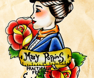 Mary Poppins and tattoo image