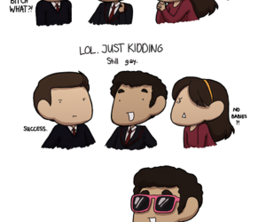 funny, glee, and fanart image