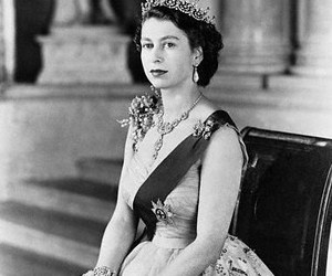 black and white, british, and Elizabeth image