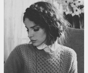lana del rey, black and white, and hair image