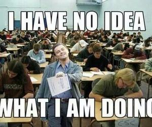 funny, exam, and school image