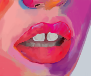 art, lips, and colors image