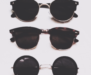 sunglasses, black, and hipster image