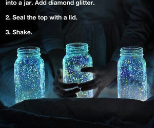 diy, jar, and glitter image