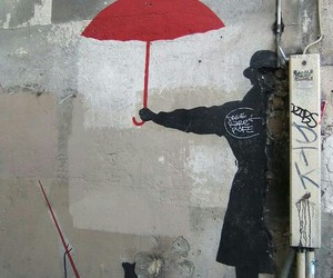 cat, art, and street art image