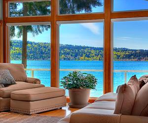 house, sea, and luxury image