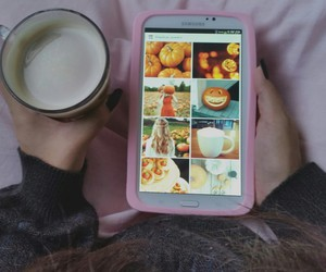 autumn, coffee, and soft grunge image