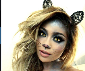 cat, cat eyes, and eye shadow image