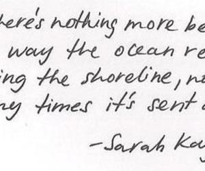 love, quote, and ocean image