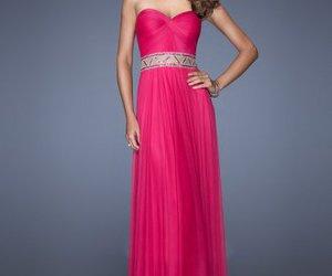 long fuchsia prom dress image