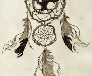 drawing, dreamcatcher, and art image
