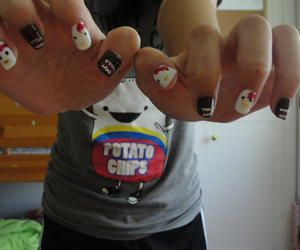 domo, hello kitty, and cute image