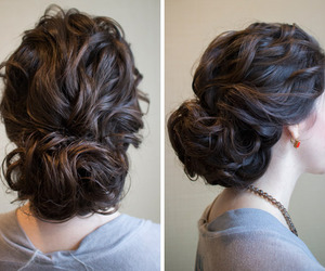 hair, hairstyles, and Prom image