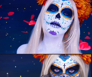 Halloween, makeup, and background image