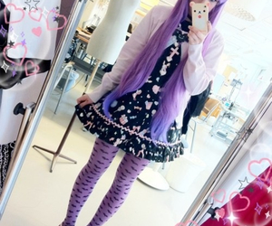pastel goth, kawaii, and purple image