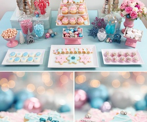 candy, blue, and christmas image