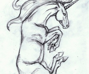 draw, fantasy, and horn image
