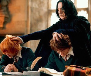 harry potter, snape, and ron weasley image