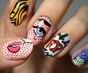 nails, beauty, and comic image