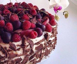 food, cake, and berries image