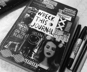 black, grunge, and journal image