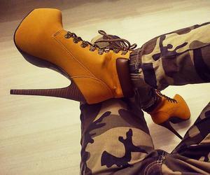 camouflage, girl, and heels image