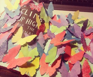 butterflies, colourful, and wreck this journal image