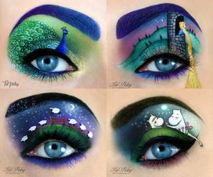 art, make up, and eyes image