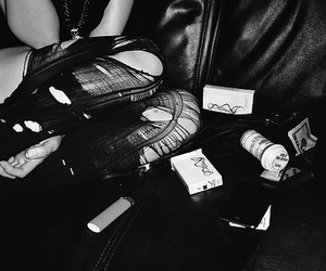 girl, tights, and drugs image