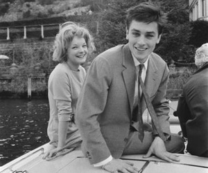 Alain Delon, actor, and couple image