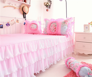 bedroom, sweet, and girly image