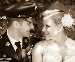 marriage, military, and wedding image
