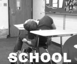 school, sleep, and boy image